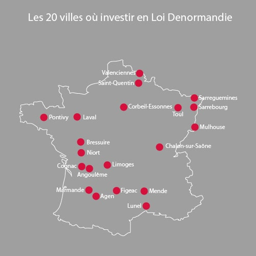 Le top 20 des villes où investir avec la loi Denormandie