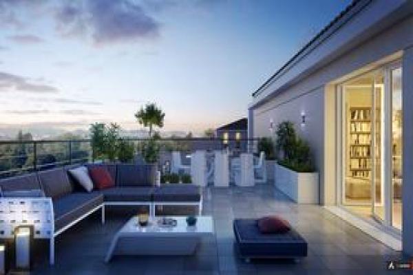 Perspective du bien immobilier neuf N.O.U : NOUVEL OPUS URBAIN BAT D 35 LOTS (Villeurbanne - 69)