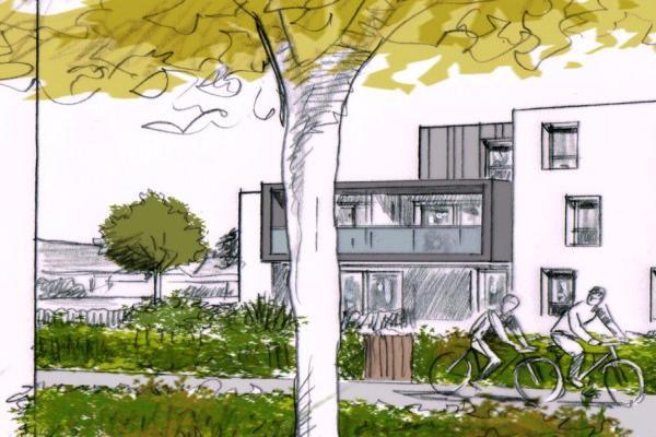 Perspective du bien immobilier neuf les hauts de ville lanester (Lanester - 56)