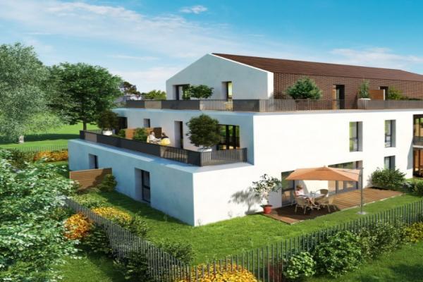 Perspective du bien immobilier neuf Le Clos Saint-Martin (Toulouse - 31)