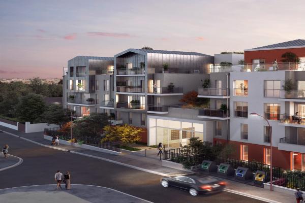 Perspective du bien immobilier neuf Symbiose (Bezons - 95)