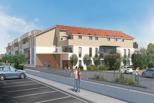 Perspective du bien immobilier neuf RESIDENCE NEW CASTEL (Castelginest - 31)