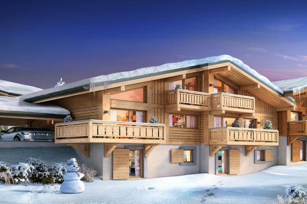 Perspective du bien immobilier neuf LE PRE DANNE CHLOE (Samoens - 74)