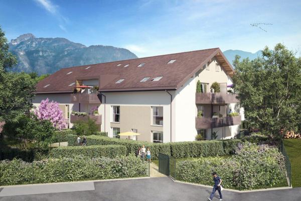 Perspective du bien immobilier neuf Villas Aravis (Saint-pierre-en-faucigny - 74)
