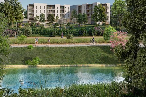 Perspective du bien immobilier neuf LES JARDINS DU CANAL (Arles - 13)