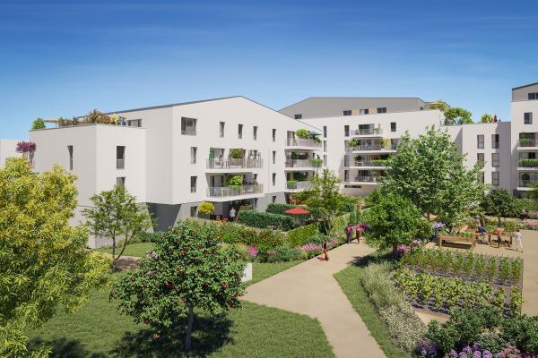Perspective du bien immobilier neuf Les Jardins d'Elise (Angers - 49)