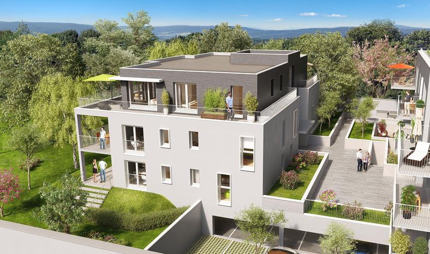 Perspective du bien immobilier neuf Les Demeures d'Henriville (Amiens - 80)