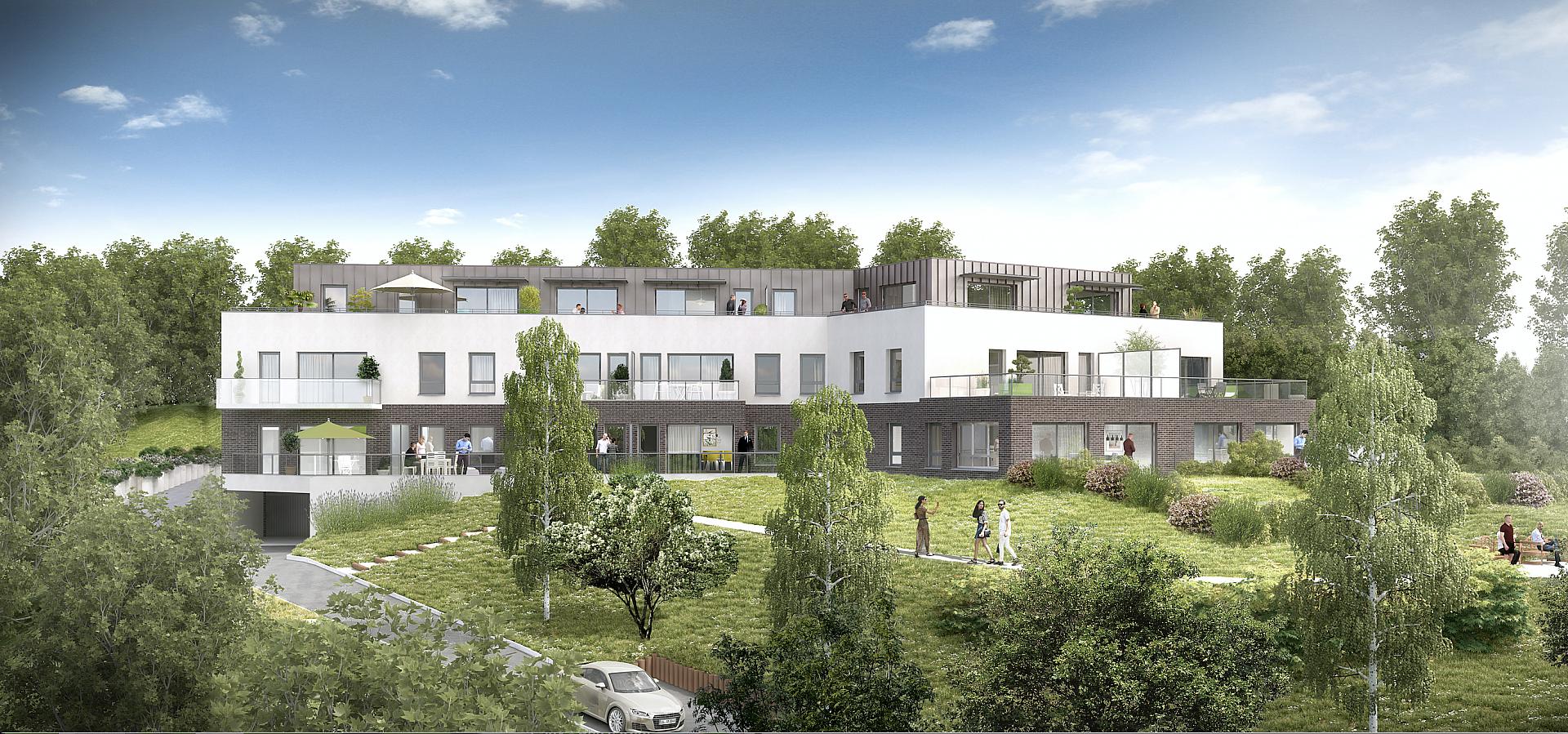 Perspective du bien immobilier neuf VILLA MONT DES CÈDRES (Mont-saint-aignan - 76)