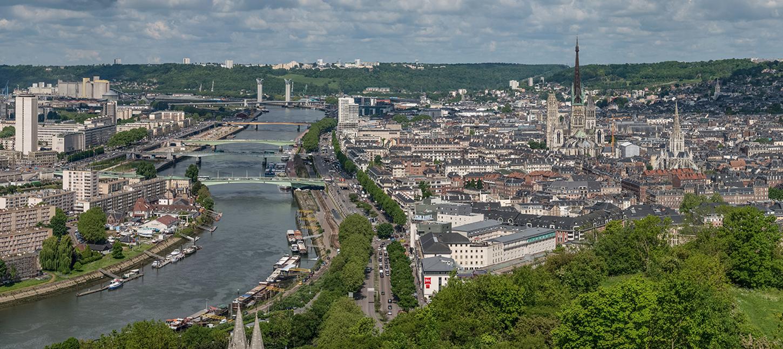 Photographie de la ville de Rouen