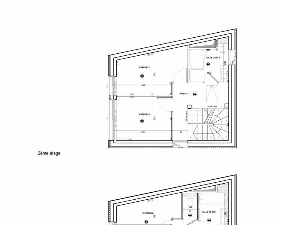Plan 001, appartement neuf type T5 au Rez de chaussée, faisant 96m² du programme neuf 122 Damremont à Paris.