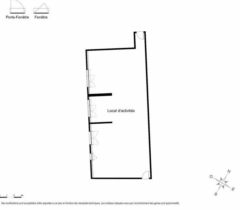 Plan 005, appartement neuf type T1 au 1er étage, faisant 144m² du programme neuf Première Avenue à Montpellier.