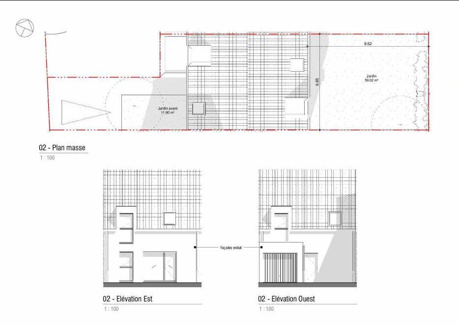 Plan 02, appartement neuf type T4 au 1er étage, orienté Est faisant 78m² du programme neuf LA MINOTERIE à Cuincy.