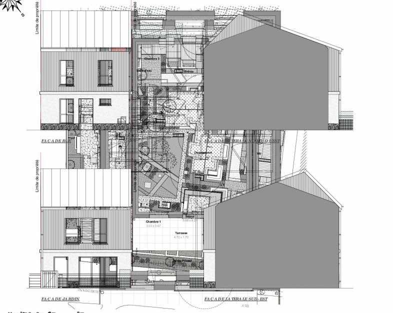 Plan 04, appartement neuf type T4 au Rez de jardin, faisant 91m² du programme neuf Les Jardins d'Occitanie à Maurepas.