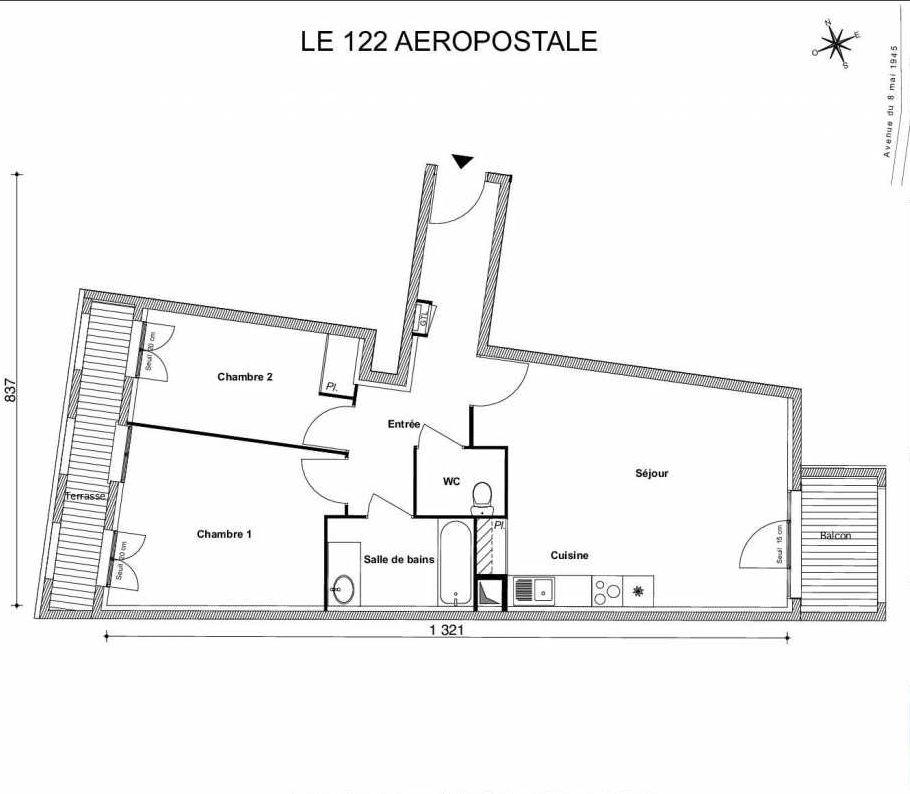 Plan recadré LE 122 AEROPOSTALE
