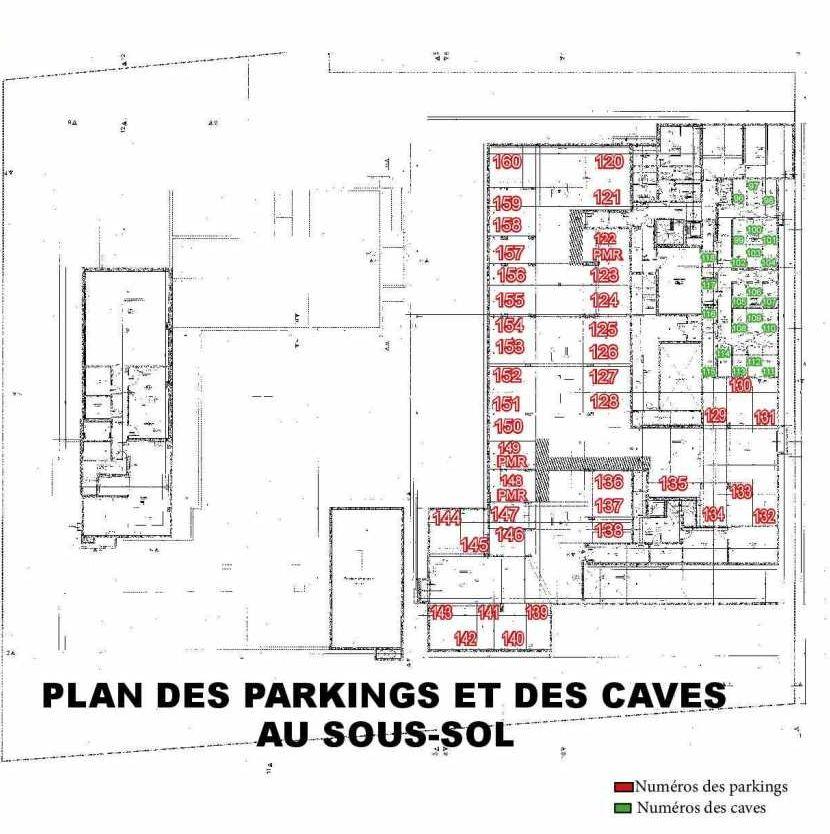Plan 101, appartement neuf type T3 au 1er étage, faisant 62m² du programme neuf Les Boréales à Rouen.