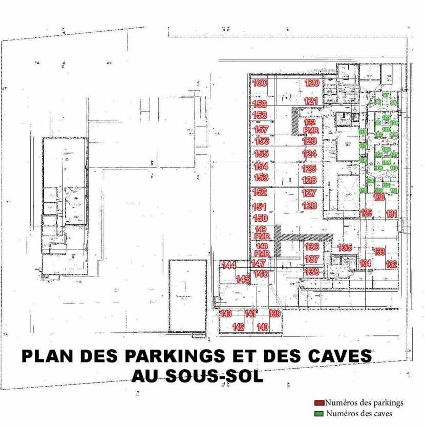 Plan 107, appartement neuf type T3 au 1er étage, faisant 63m² du programme neuf Les Boréales à Rouen.