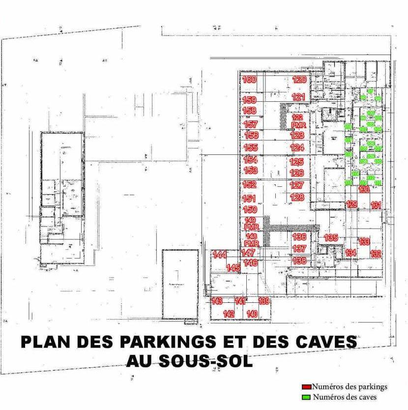 Plan 108, appartement neuf type T3 au 1er étage, faisant 59m² du programme neuf Les Boréales à Rouen.