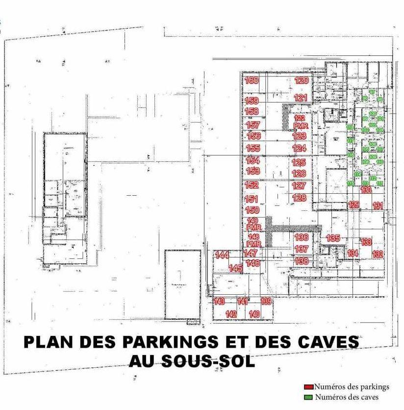 Plan 112, appartement neuf type T2 au 1er étage, faisant 43m² du programme neuf Les Boréales à Rouen.