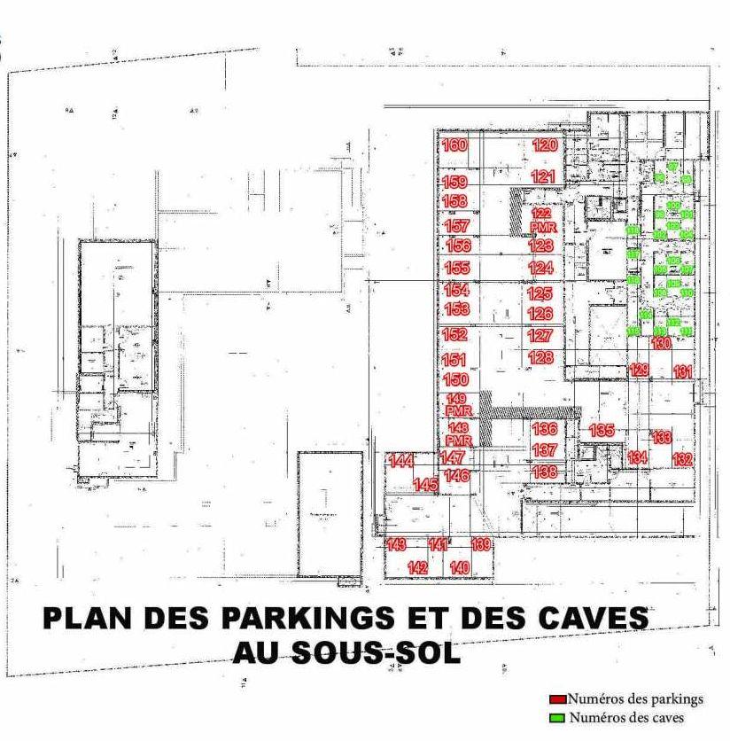 Plan 114, appartement neuf type T2 au 1er étage, faisant 43m² du programme neuf Les Boréales à Rouen.