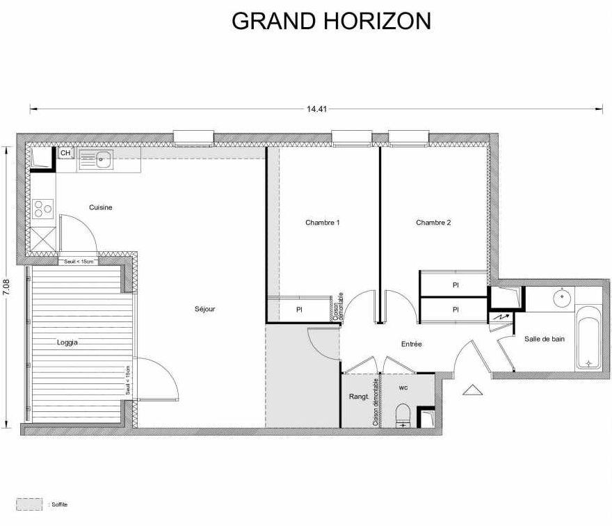 Plan recadré GRAND HORIZON