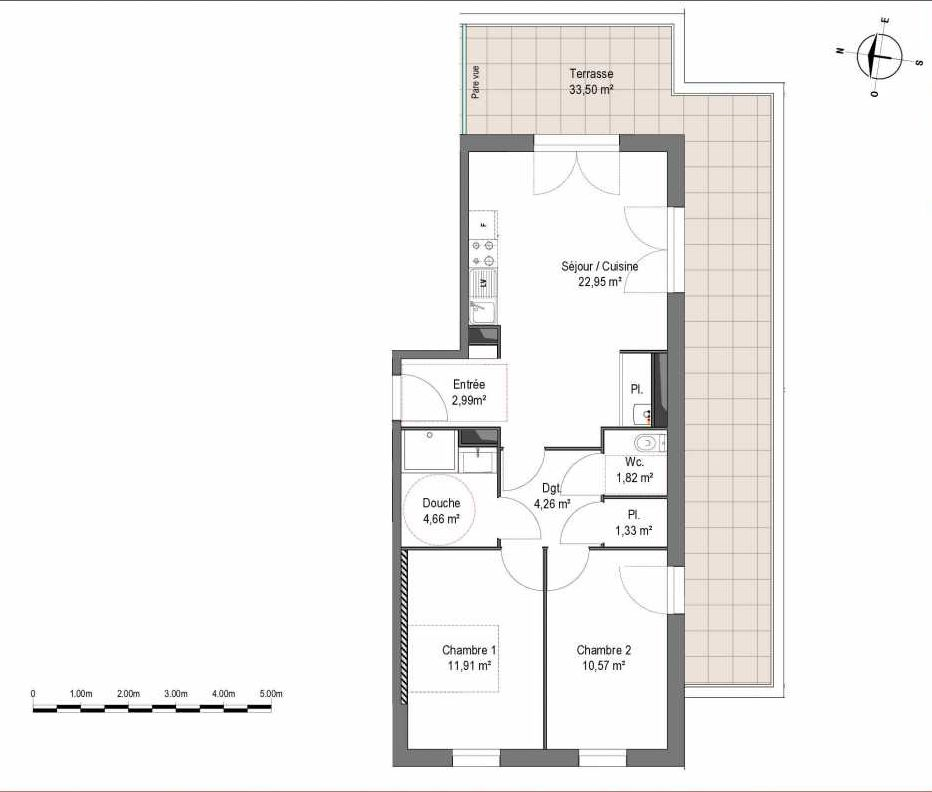 Plan recadré Villa Céleste