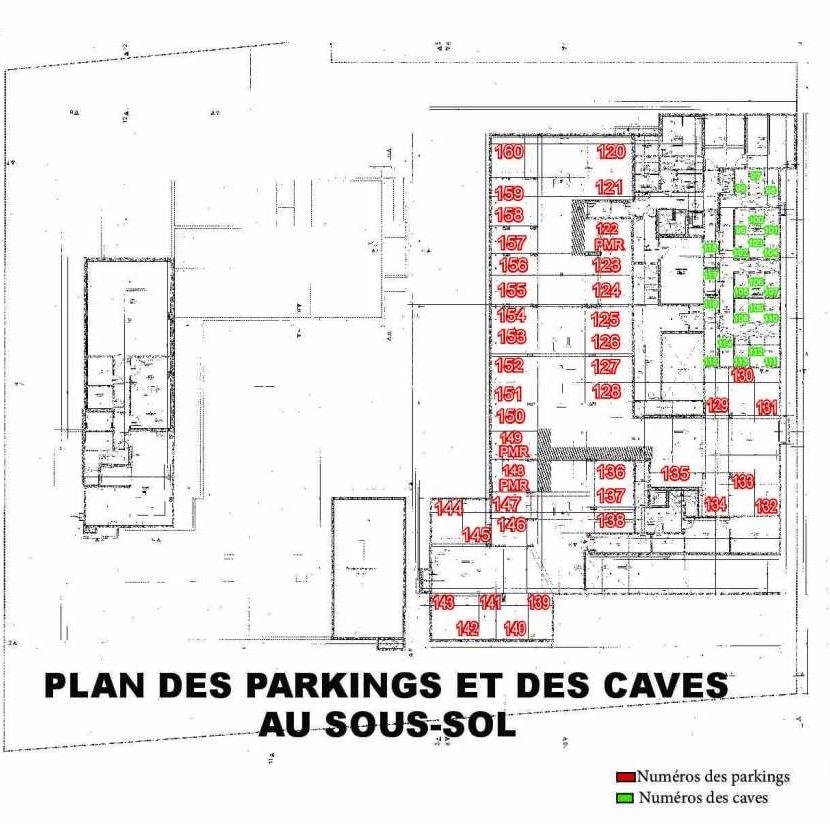 Plan 307, appartement neuf type T2 au 3ème étage, faisant 46m² du programme neuf Les Boréales à Rouen.