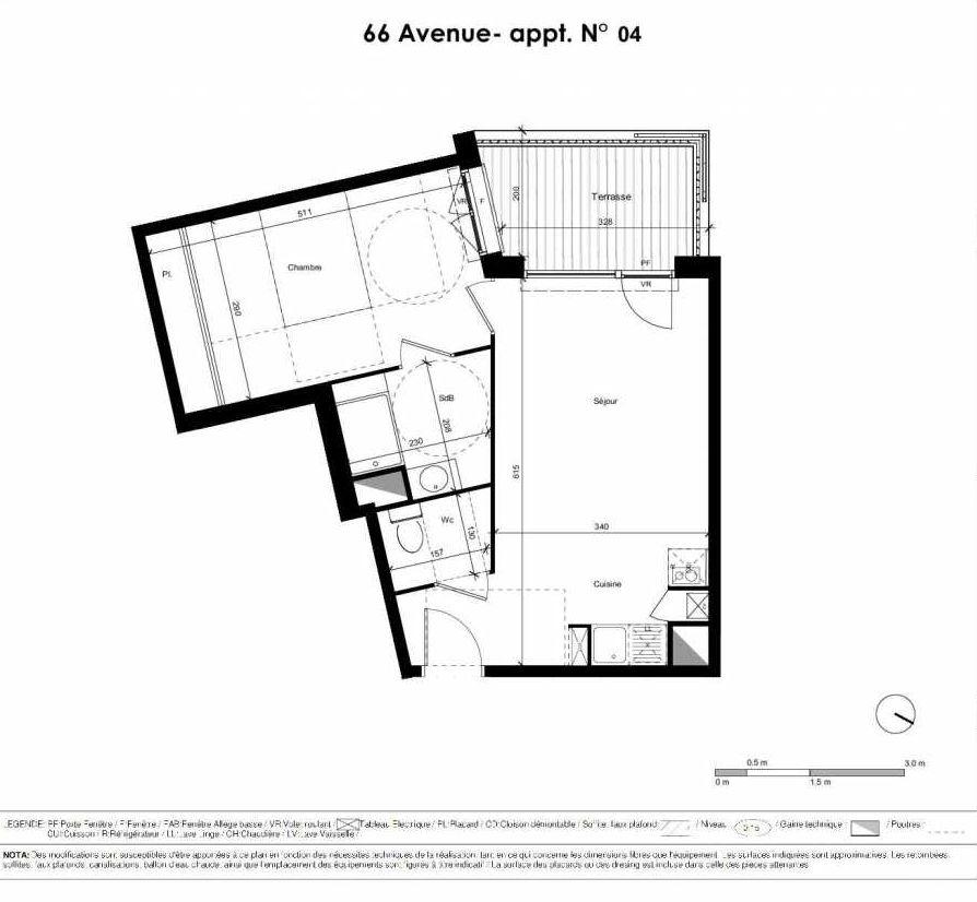 Plan recadré Résidence 66 Avenue