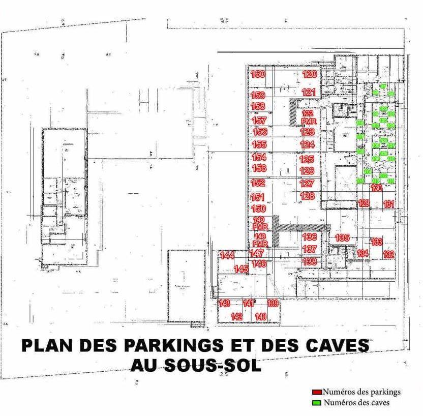 Plan 405, appartement neuf type T2 au 4ème étage, faisant 44m² du programme neuf Les Boréales à Rouen.