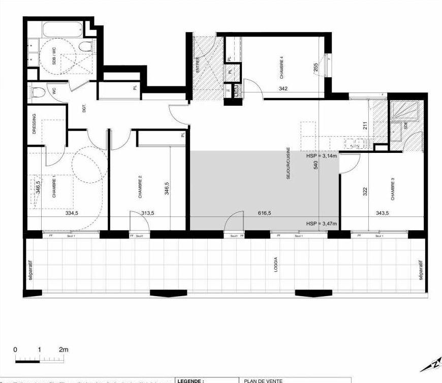 Plan recadré FAUBOURG 56 NEUF - C-D-E - LIBRE