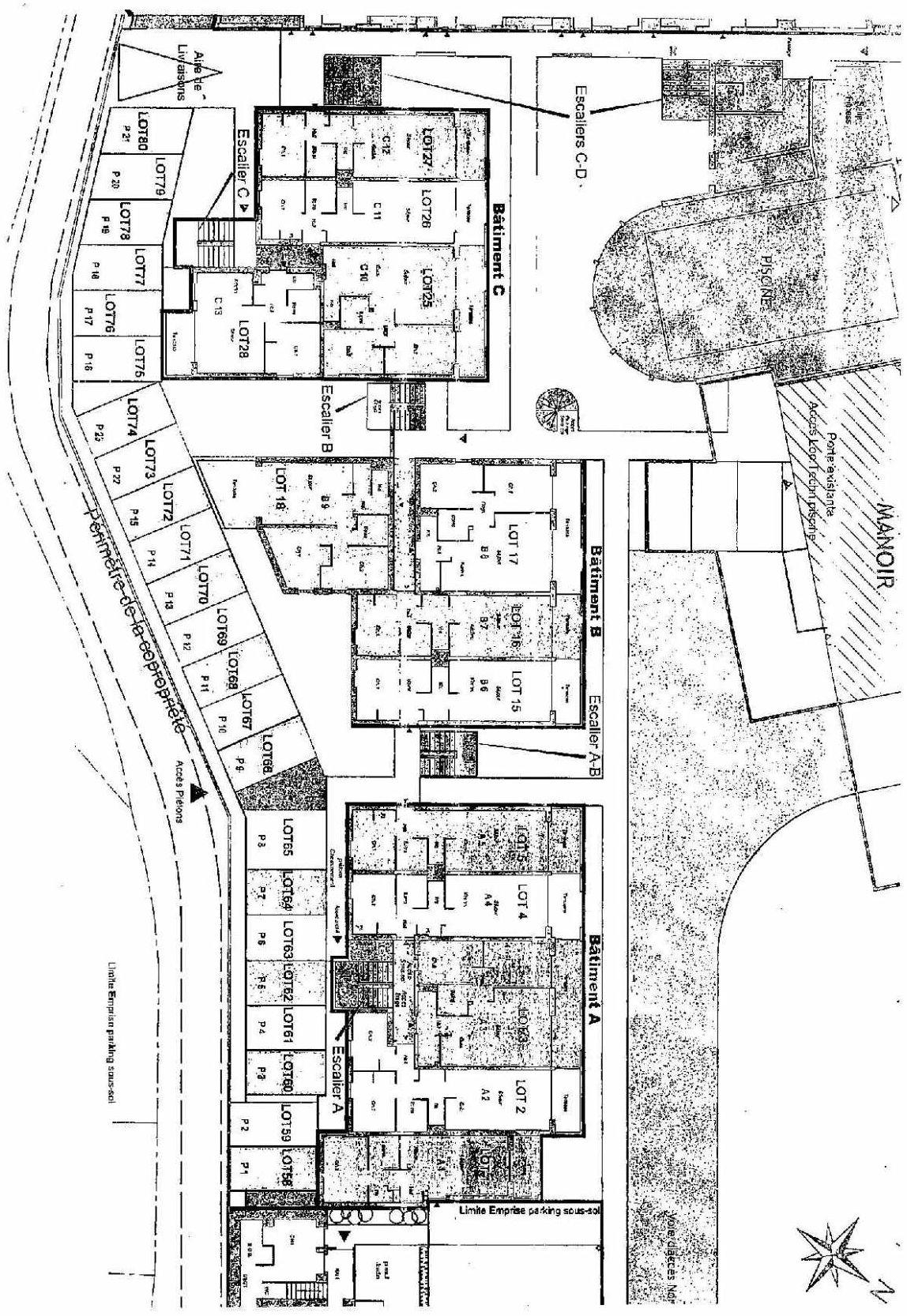 Plan recadré Domaine des Roches Jaunes