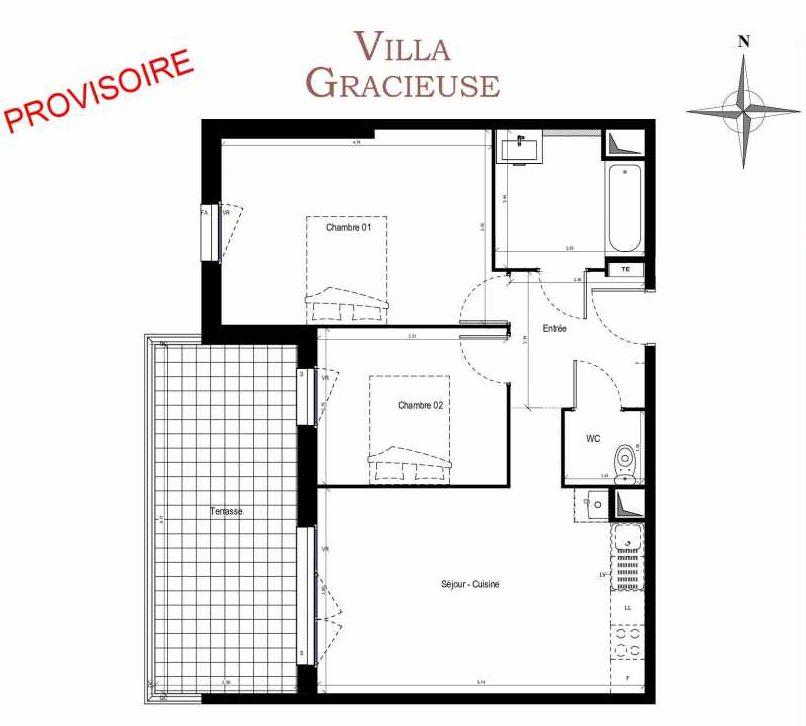 Plan recadré Villa Gracieuse