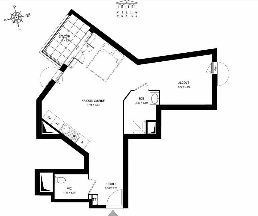 Plan recadré Villa Marina