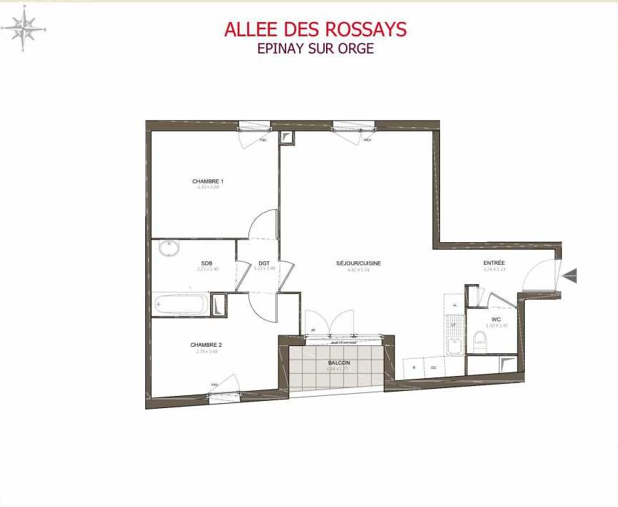 Plan recadré Villa Rossays