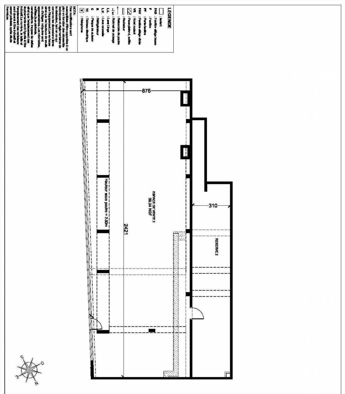 Plan Commerce 2, appartement neuf type T9 au Rez de chaussée, faisant 252m² du programme neuf ESPRIT VILLE à Chelles.