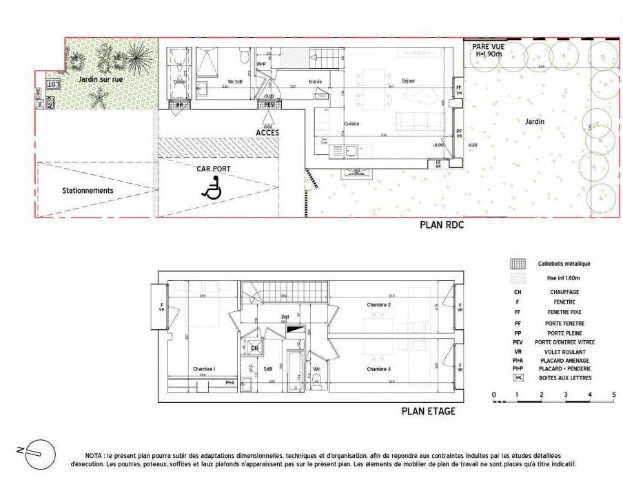 Plan recadré du lot neuf du programme neuf GREEN PARK