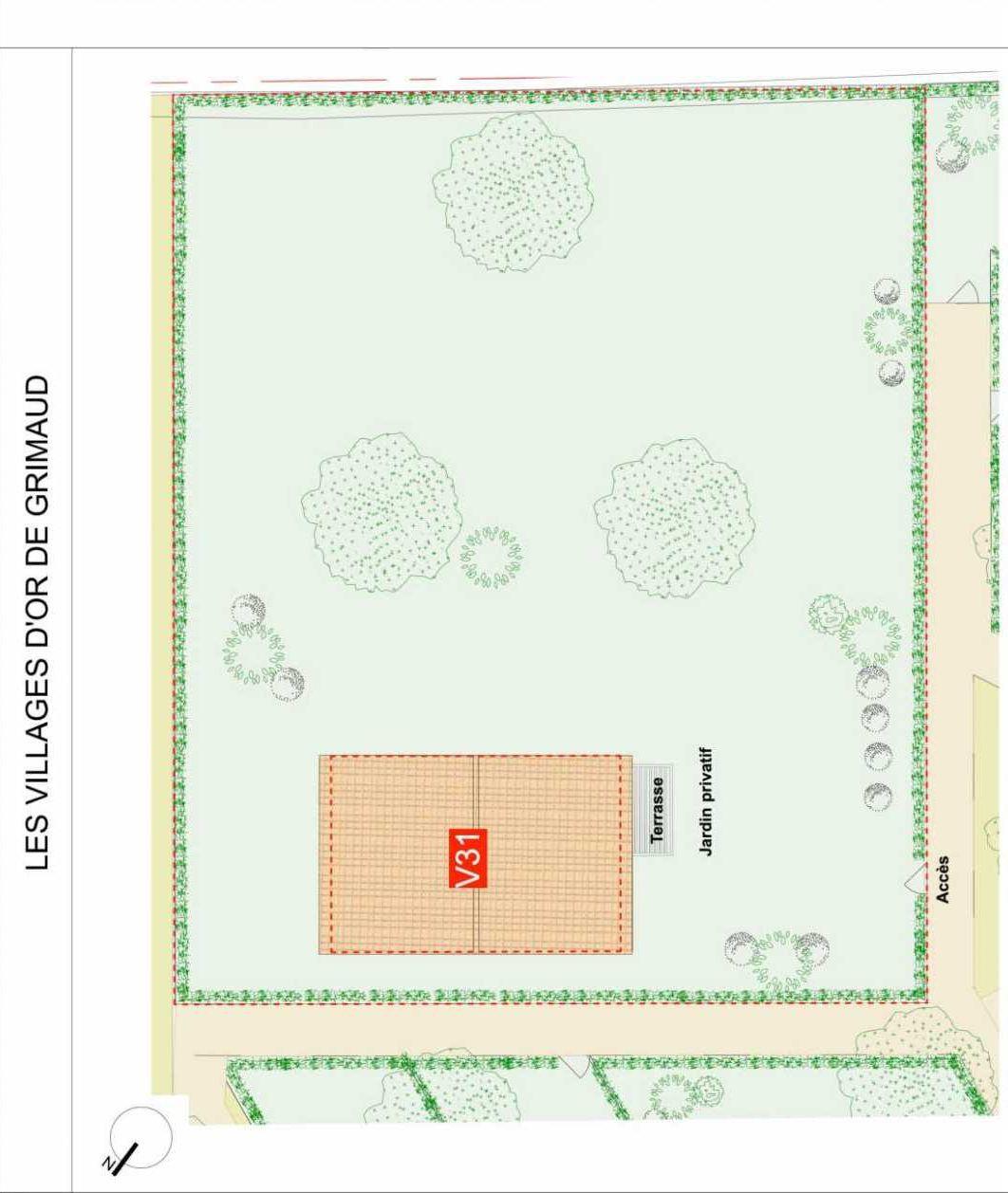 Plan Villa 31, appartement neuf type T3 au Rez de chaussée, faisant 69m² du programme neuf GRIMAUD - villas à Grimaud.